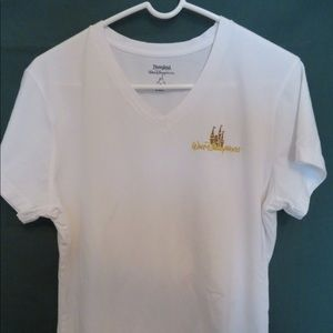 Disney's V-neck T with Castle Icon Embroidery